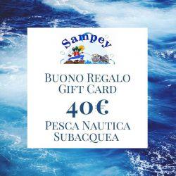 Buono Regalo Gift Card 40€ Pesca Subacquea Nautica
