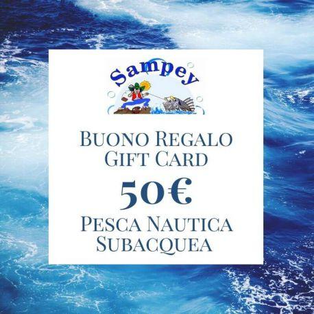 Buono Regalo Gift Card 50€ Pesca Subacquea Nautica
