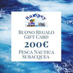 Buono Regalo Gift Card 200€ Pesca Subacquea Nautica