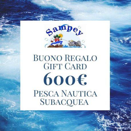 Buono Regalo Gift Card 600€ Pesca Subacquea Nautica
