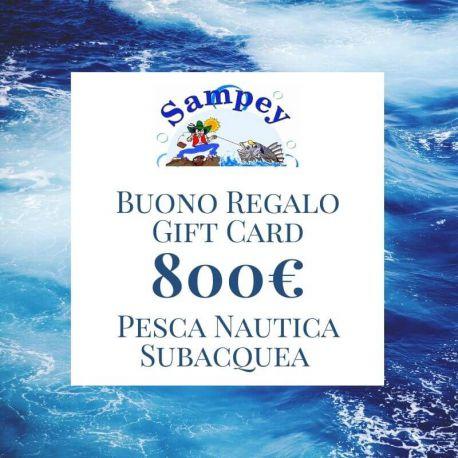 Buono Regalo Gift Card 800€ Pesca Subacquea Nautica