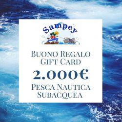 Buono Regalo Gift Card 2000€ Pesca Subacquea Nautica