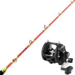 Completo Pesca al Tonno Penn 50 libbre con canna due pezzi