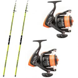 Kit Surfcasting 2X Lineaeffe 420/200 Trabucco 6500 Caster