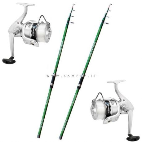 Kit Surfcasting Lineaeffe Mitchell Green 165 Bluewater 6000