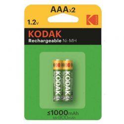 Batterie Kodak Ricaricabili Ni-MH AAA Mini Stilo 2 pezzi.