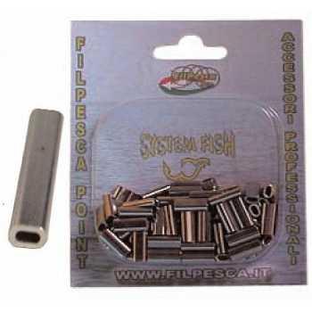 Medie Rivette Sleeves per Filo ø 1.30 mm (100 pezzi)