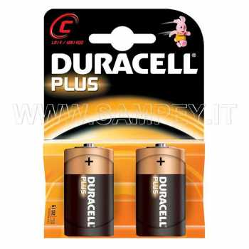 Batterie Duracell Plus Power tipo C 1/2 Torcia