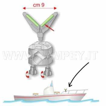 Apoggia Canne da Barca Battagliola  tipo T Stonfo 42