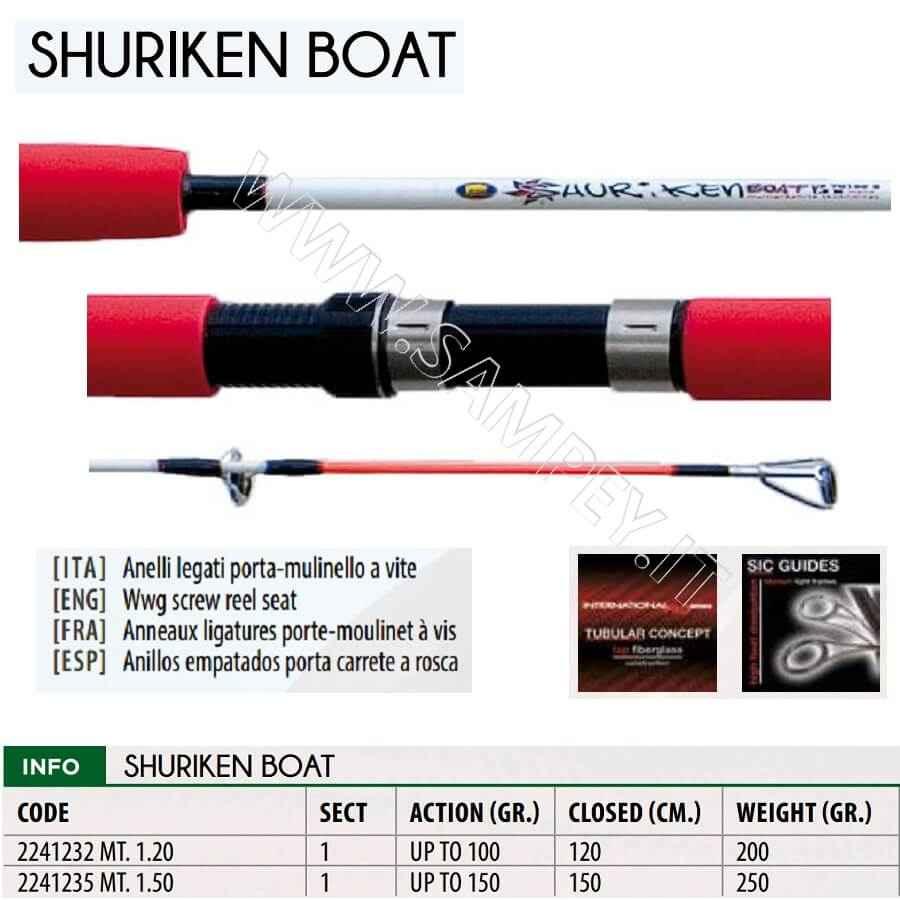 Canna Barca Lineaeffe Shurikane 1.20 mt 100 gr