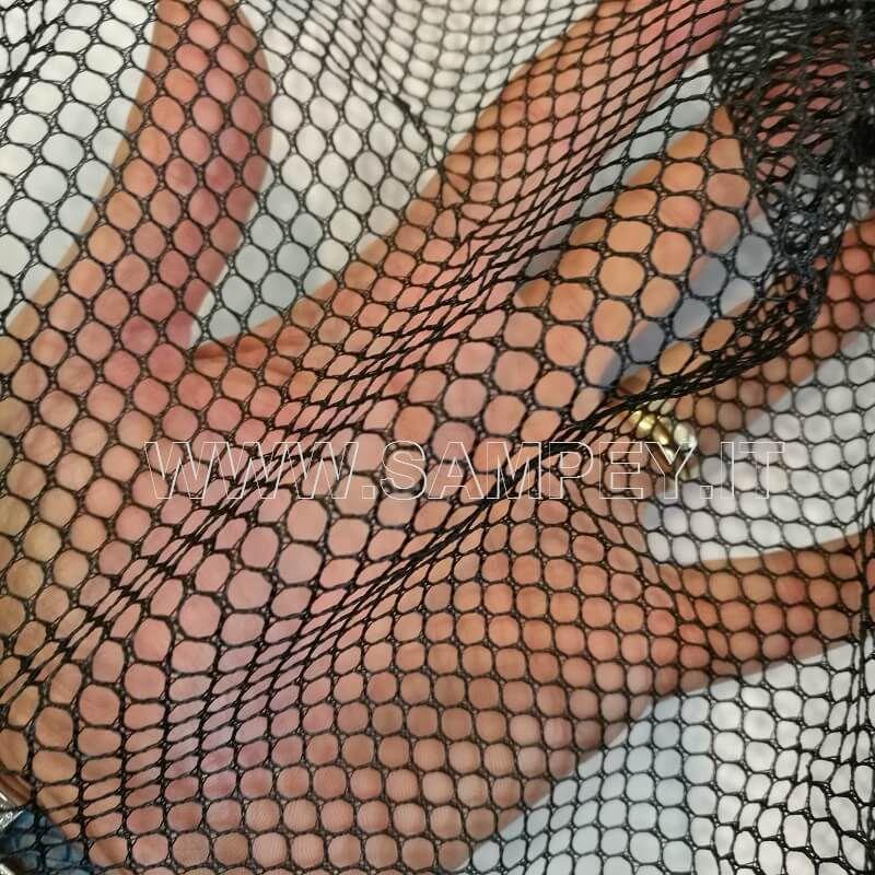 Testa per guadino pesca 60 cm ovale maglia media 6 mm