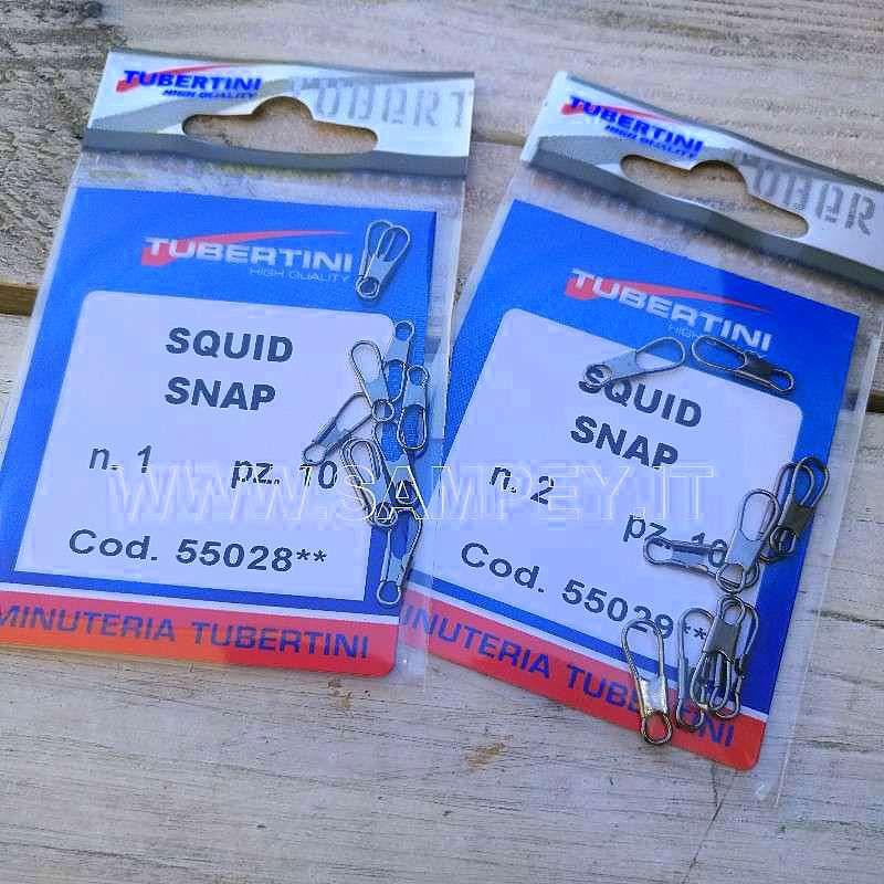 Moschettoni Squid Snap Tubertini Totanare Artificiali