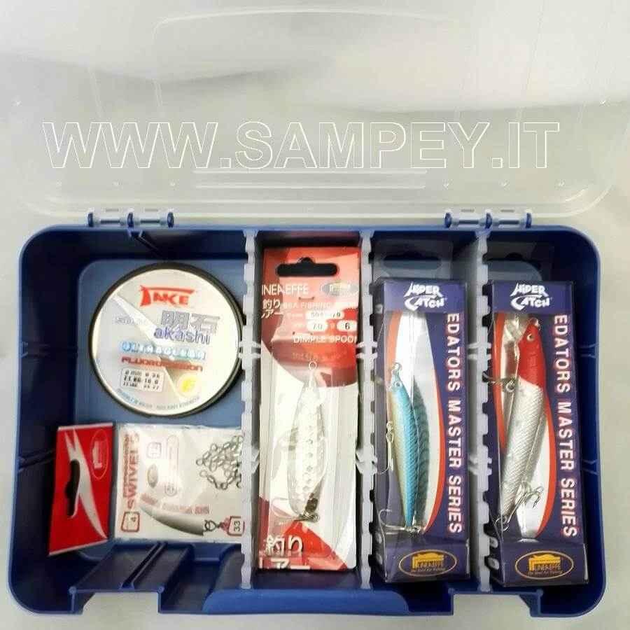 Kit Per Iniziare Pesca Traina 2 Canne + 2 Mulinelli + Accessori