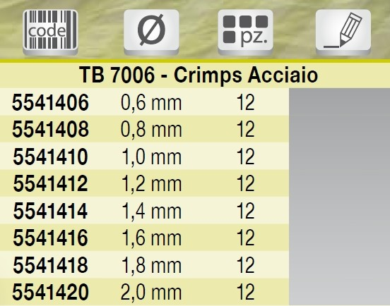 Crimps Brass Tube Tubini Singoli Pesca Tubertini TB 7006