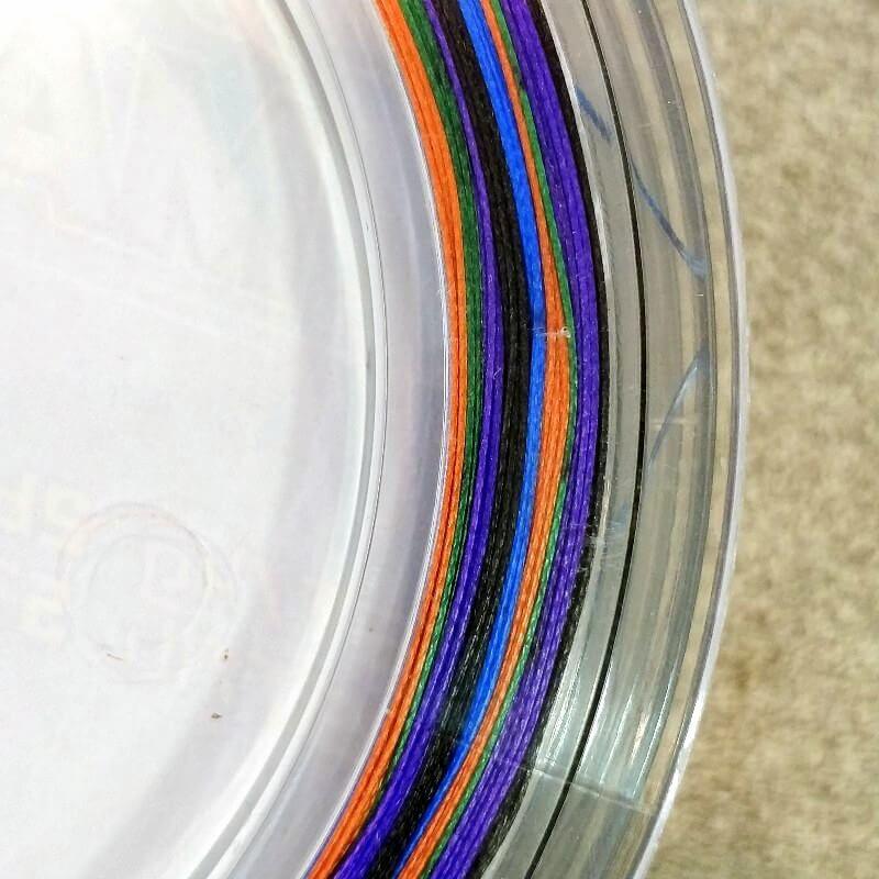 Trecciato 8 Fili Multicolor Asso 0.47 mm  94.5 Libbre 100 metri