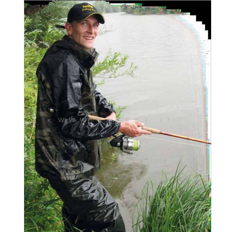 Pantalone Salopette Impermeabile Caccia Pesca
