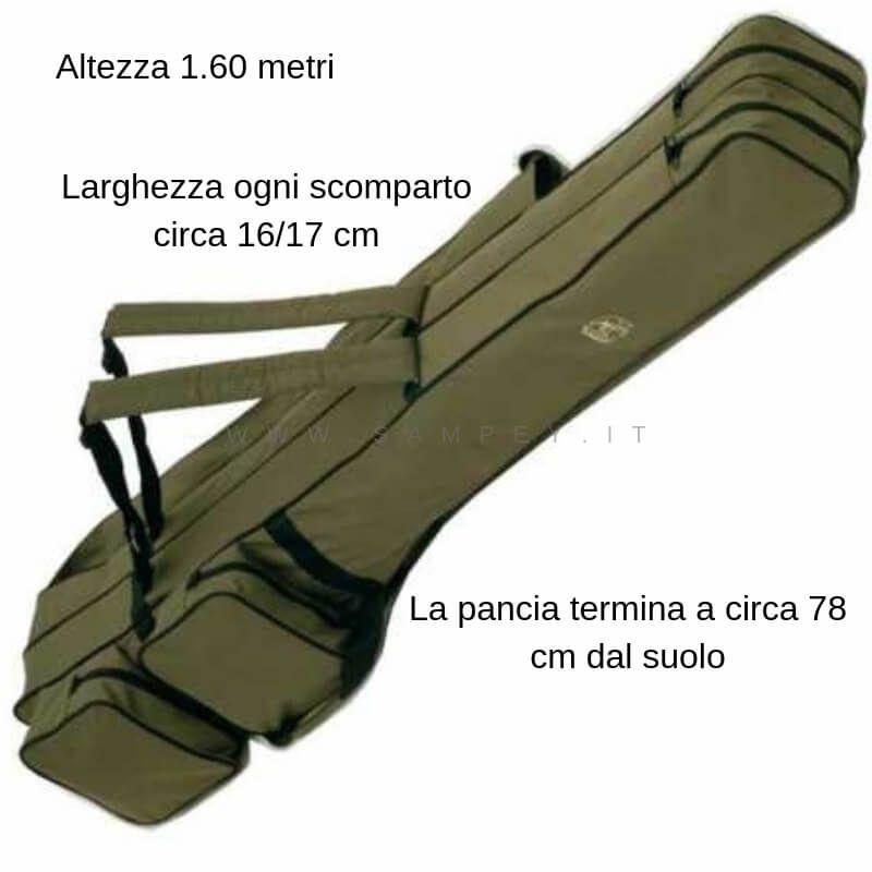 Sacca Fodero Portacanne Behr Pesca 2 Scomparti 160 cm