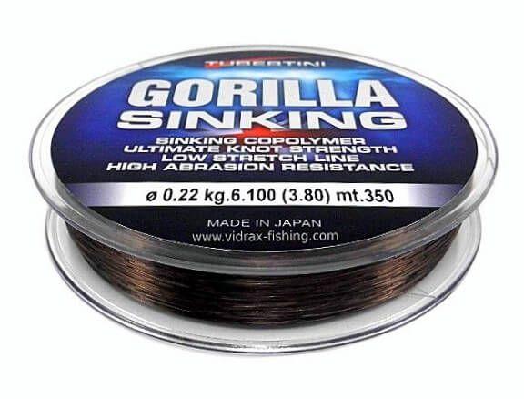 Filo Affondante Tubertini Gorilla Sinking 350 mt Feeder Inglese Mulinello