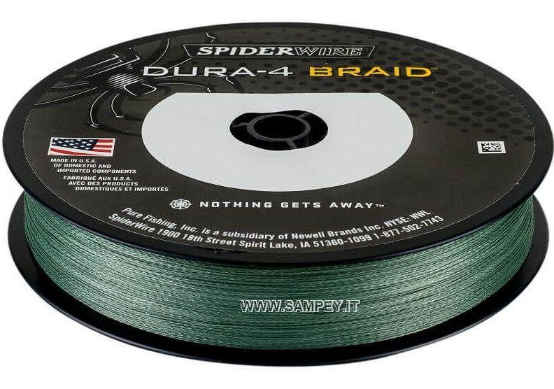 Filo Trecciato Multifibra Dura 4 Green Spiderwire