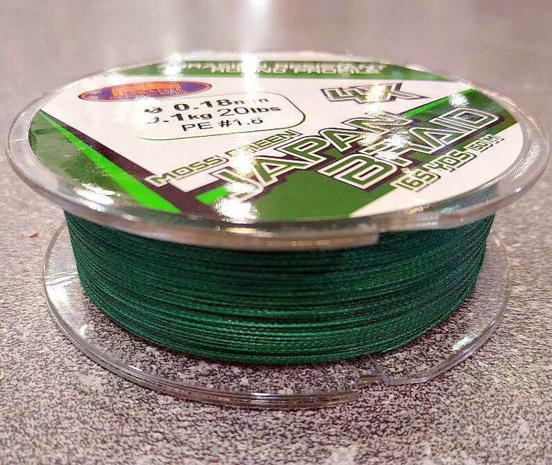 Trecciato Japan Braid Green 150 Metri Dal 0.14 Al 0.25 Mm 4X