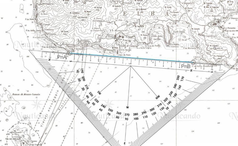 Carta nautica didattica 5d scuola nautica carteggio e patente nautica