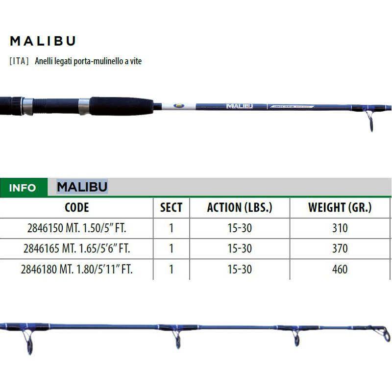 Kit Traina Lineaeffe canna Malibù 15/30lbs + mulinello JD300 + artificiale
