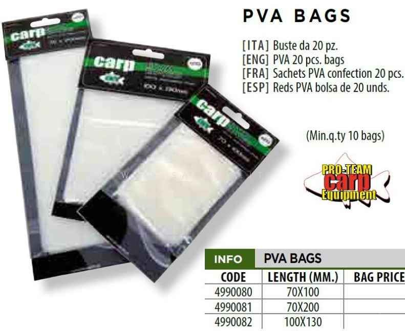 buste PVA carp fishing