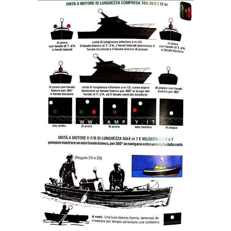 Luci di navigazione barche regolamentari
