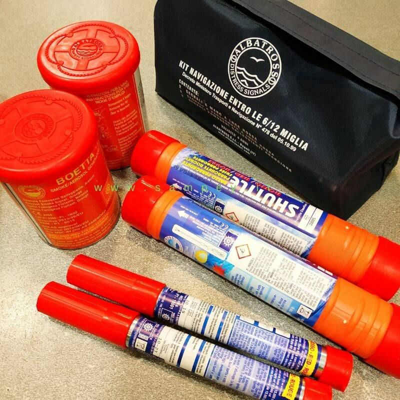 Kit segnali di soccorso entro 12 miglia razzi segnalazione