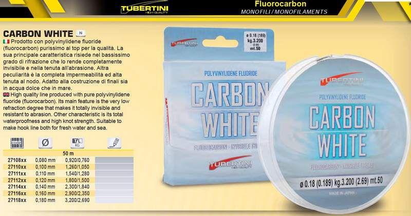fluorocarbon tubertini carbon white
