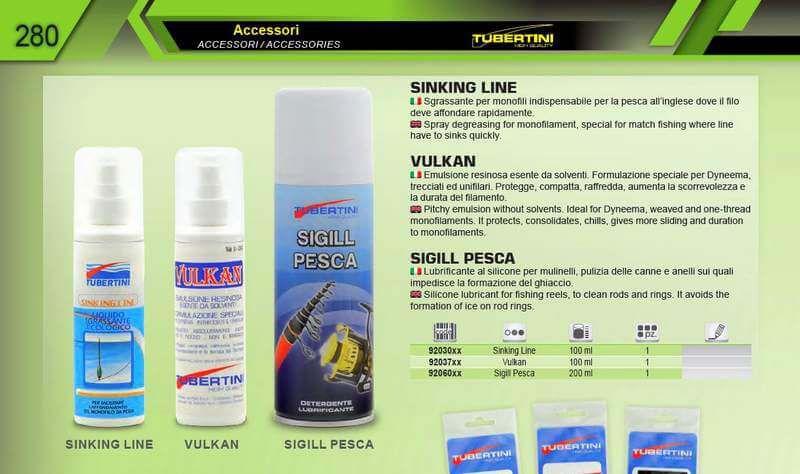 Detergente lubrificante spray Tubertini Sigill Pesca canne mulinelli