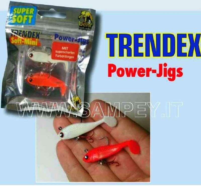 2 Soft Mini PowerLight Jigs Gomma Behr 4 cm