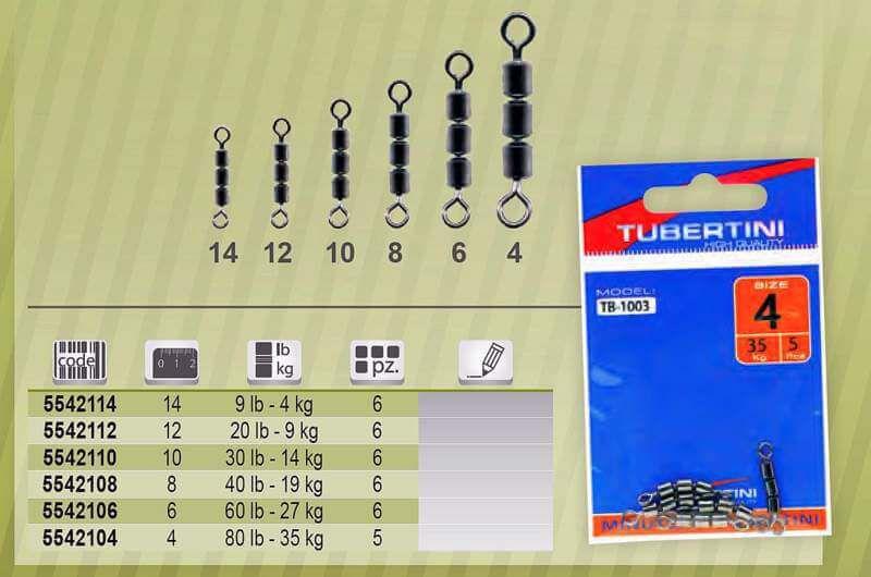 Girelle Pesca Tubertini Rolling Tripla TB 1003
