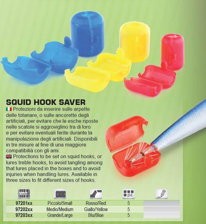 Squid Hook Saver Medium Tubertini salva ancorette arpette