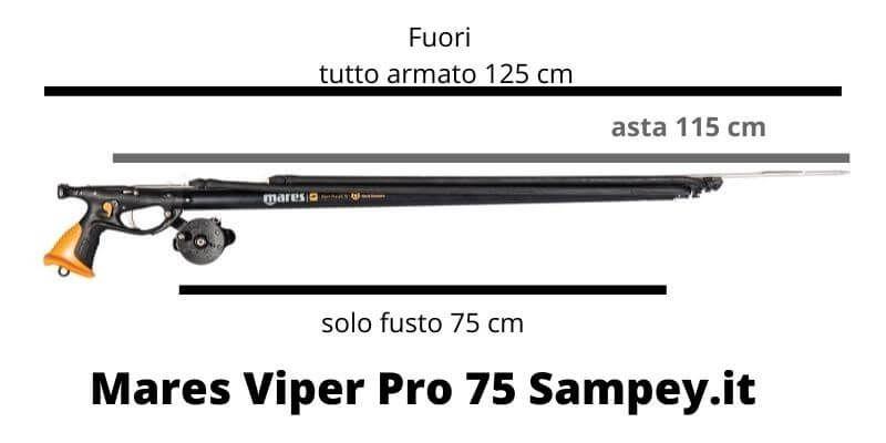 Arbalete Mares Viper Pro DS 75 Pronta Pesca Fucile da Sub