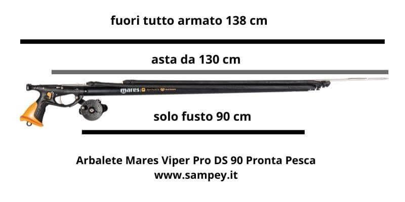 Arbalete Mares Viper Pro DS 90 Pronta Pesca Fucile da Sub