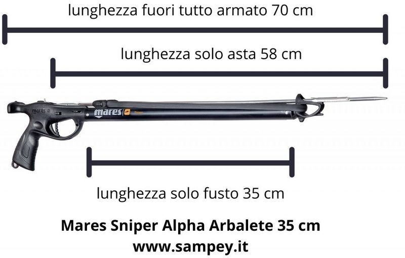 Mares Sniper Alpha Arbalete 35 cm