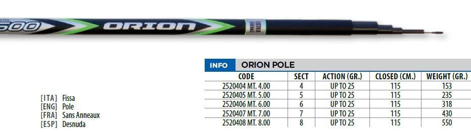 Canna Fissa 7 metri Lineaeffe Orion