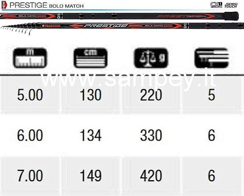 120-55-050 PRESTIGE MATCH BOLO * 5005