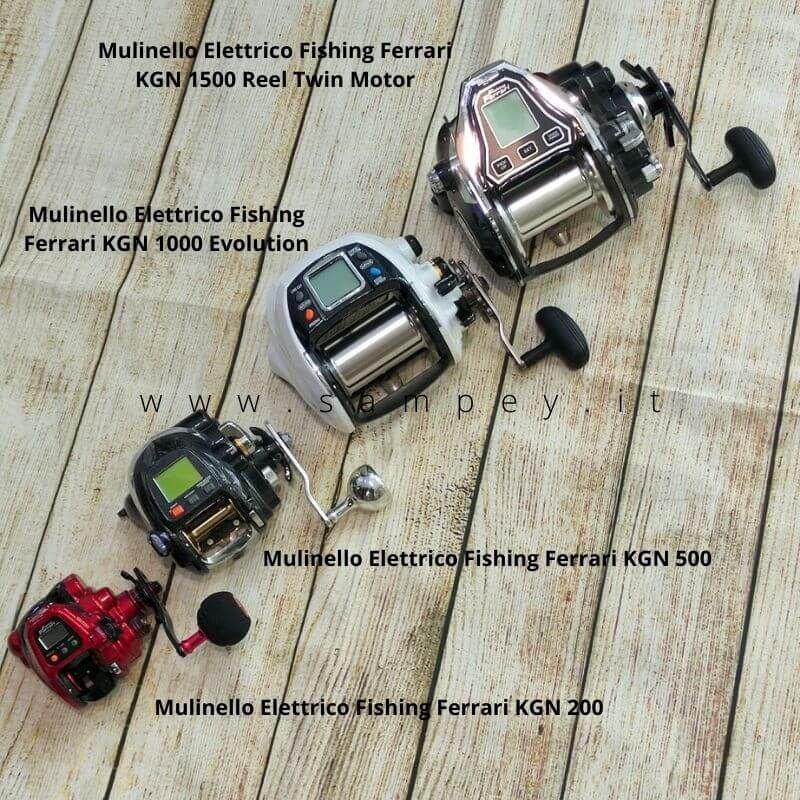 Mulinello Elettrico Fishing Ferrari KGN 1000 Evolution