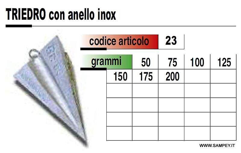 Piombo Pesca Triedro Piramide Anello da 50 a 175 grammi