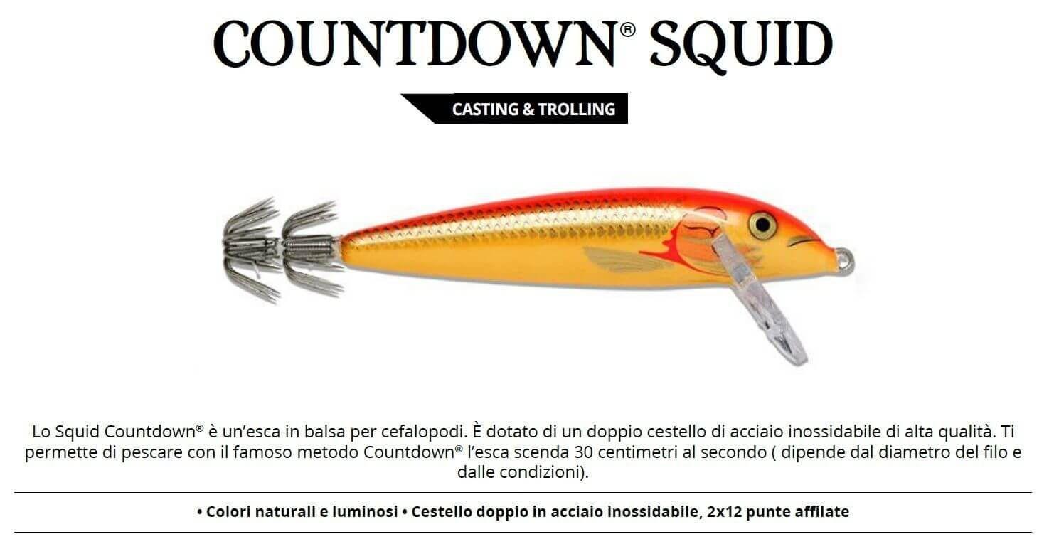 Totanare Rapala Artificiali Traina Calamari Squid 11 cm GFR