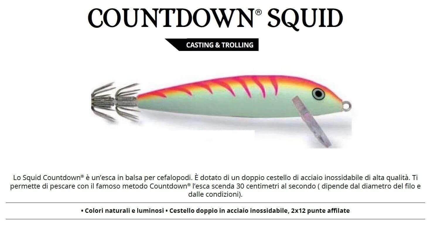 Totanare Rapala Artificiali Traina Calamari Squid 11 cm PTU
