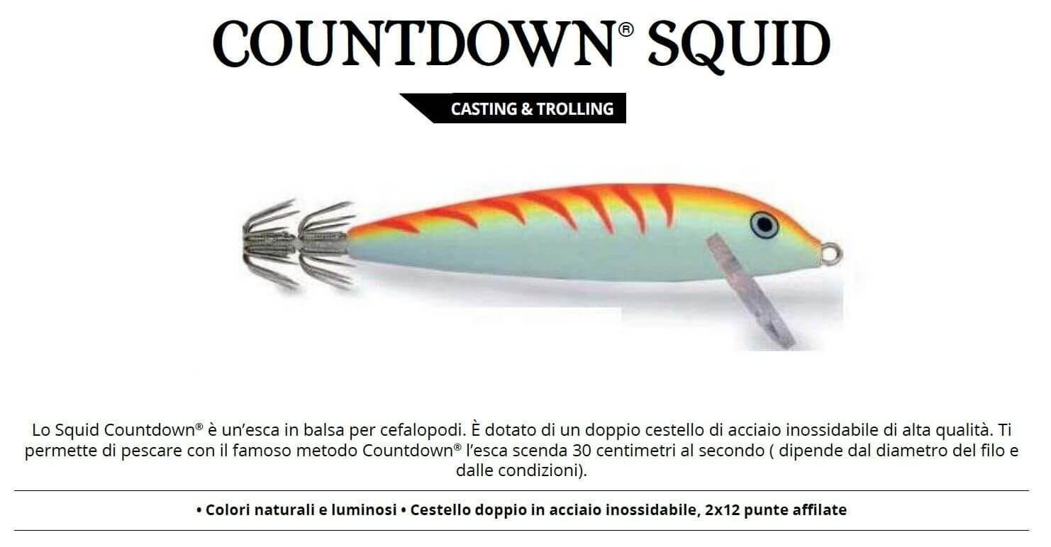Totanare Rapala Artificiali Traina Calamari Squid 11 cm Offerta 3 PZ