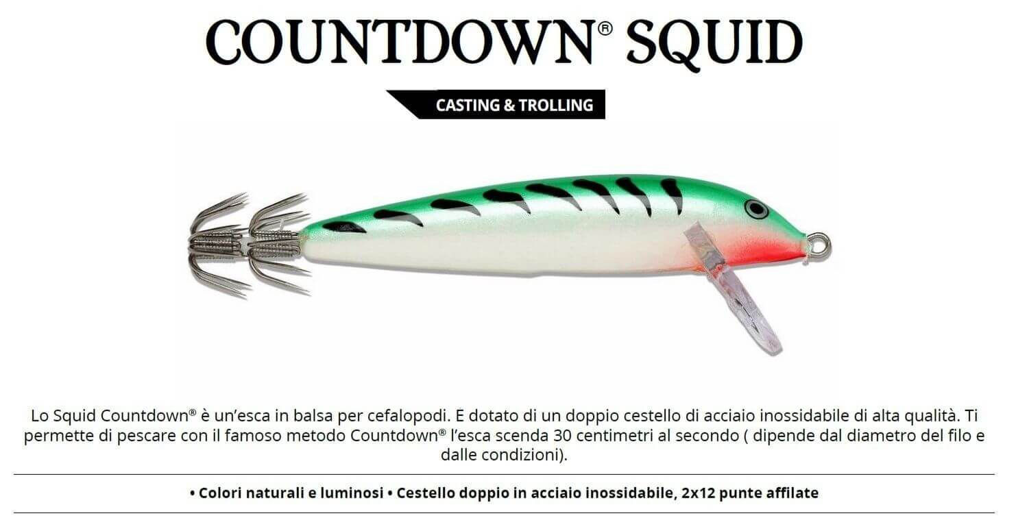 Totanare Rapala Artificiali Traina Calamari Squid 11 cm SGM