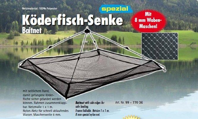 Bilancia Da pesca per Vivo Con Bordi Behr 1x1 mt