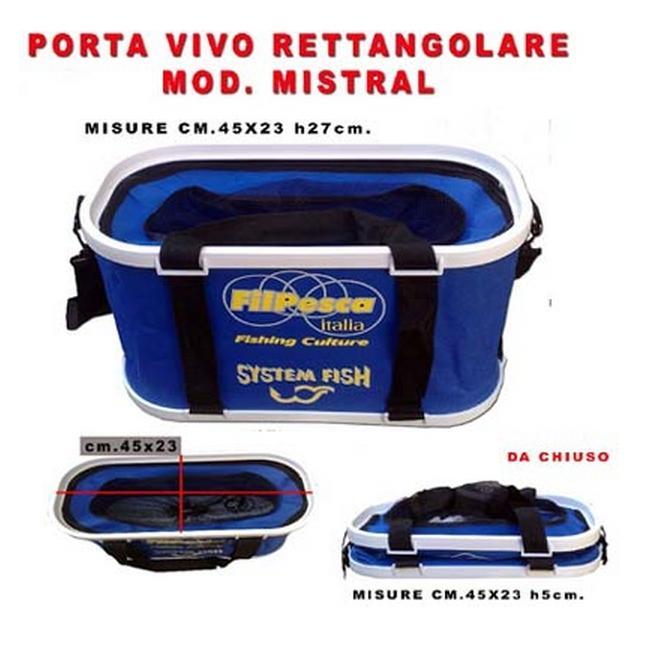 Secchio Porta Vivo Pesci Pesca Borsa Filpesca 45 cm