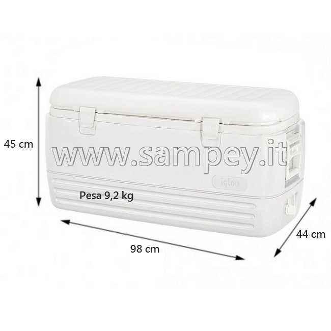 Ghiacciaia Igloo Marine modello 150 Polar, capienza 114 litri, colore bianco